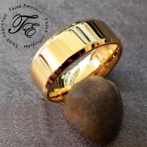 14k Gold IP Wedding Band or Promise Ring